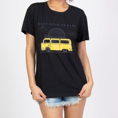 T-shirt-Ampla-Kombi-Amarela-Preto--Frente