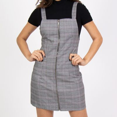 Vestido-Xadrez-com-ziper-frontal-frente