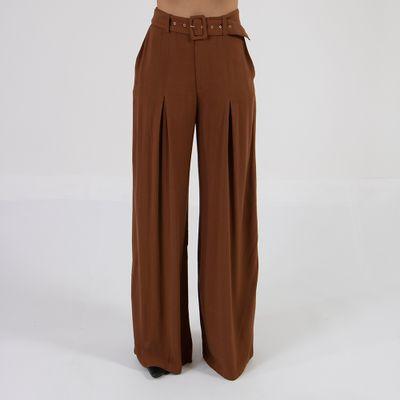 calca-pantalona-lady-rock-com-cinto-chocolate-frente