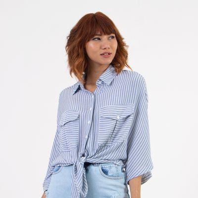Camisa-Listrada-Lady-Rock-Azul-Frente
