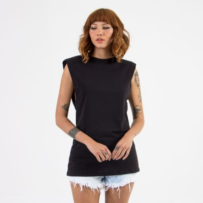 T-Shirt-Regata-Cavada-Lady-Rock-Assinatura-Frente