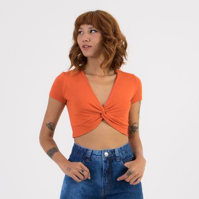 Blusa-Top-Tamisa-Lady-Rock-Laranja-Frente