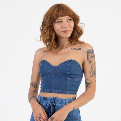 Top-Jeans-Lady-Rock-com-Recorte-e-Ziper-nas-costas-Frente