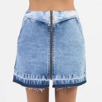 Saia-Mini-Lady-Rock-Mix-de-Tecidos-com-Recortes-e-Ziper-Frontal-Frente