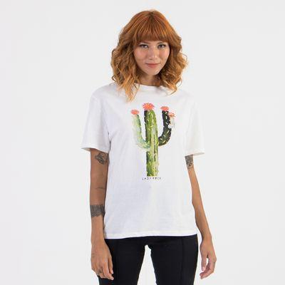 T-shirt-Ampla-Estampada-Cacto-Off-White-Frente