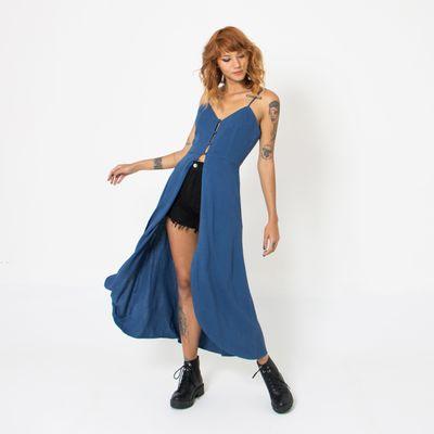 Blusa-Maxi-Lady-Rock-com-Botoes-Azul-Marinho-Frente