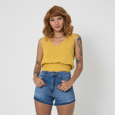 Blusa-Cachecour-Lady-Rock-com-Amarracao-Amarelo-Frente