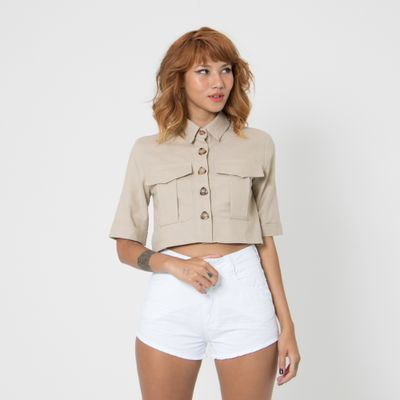 Camisa-Cropped-Lady-Rock-com-Botoes-Off-White-Frente