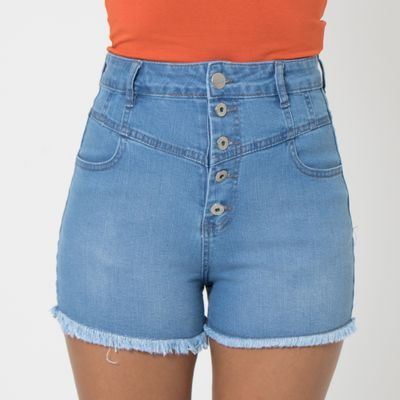 Short-Hot-Pants-Lady-Rock-com-Recortes-Frontais-e-Botoes-na-Vista-Frente