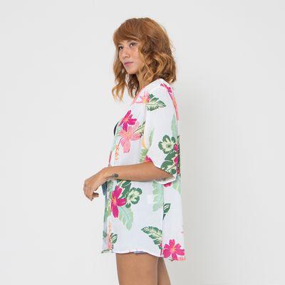 Kimono-Lady-Rock-Florido-Off-White-Frente