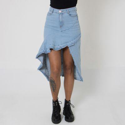 Saia-Midi-Jeans-Lady-Rock-com-Abertura-e-Babados-Frente