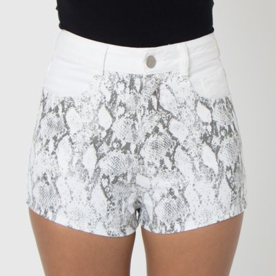 Short-Confort-Lady-Rock-Animal-Print-Off-White-Frente