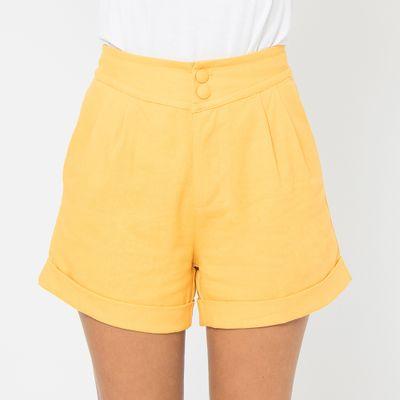 Short-de-Linho-Lady-Rock-Amarelo-Frente