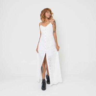 Vestido-Longo-Lady-Rock-Laise-Off-White-Frente