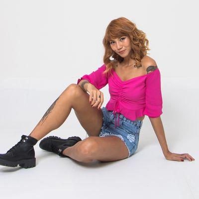 Blusa-Cropped-Lady-Rock-Abby-Pink-Frente
