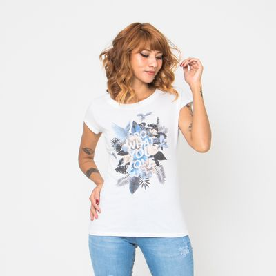 T-Shirt-Lady-Rock-Do-What-You-Love-Off-White-Frente