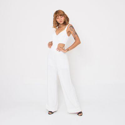 Macacao-Longo-Lady-Rock-com-Recorte-Lateral-Off-White-Frente