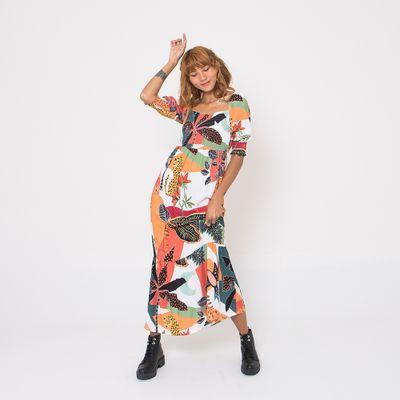 Vestido-Longo-Lady-Rock-com-Decote-Quadrado-Elastex-Off-White-Frente
