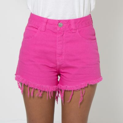 Short-Hot-Pants-Lady-Rock-Colors-Pink-Frente