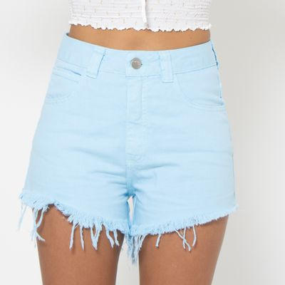 Short-Hot-Pants-Lady-Rock-Colors-Azul-Frente