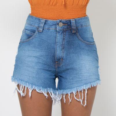 Short-Hot-Pants-Lady-Rock-Lavagem-Clara-com-Puidos-Frente