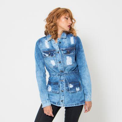 Jaqueta-Parka-Jeans-Lady-Rock-Destroyed-Lavagem-Media-Frente