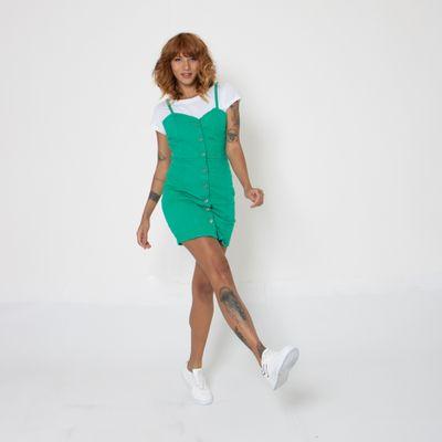 Vestido-Lady-Rock-Color-Verde-Frente