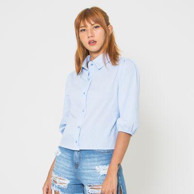 Camisa-Lady-Rock-com-Botoes-Azul-Frente