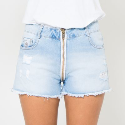 Short-Confort-Lady-Rock-com-Ziper-Frontal-e-Bordado-Frente