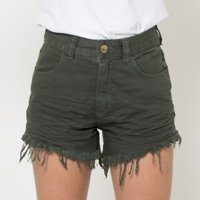 Short-Hot-Pants-Lady-Rock-Color-Verde-Escuro-Frente