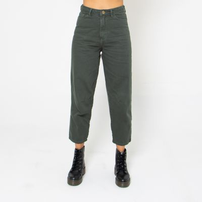 Calca-Slouchy-Lady-Rock-Color-Verde-Militar-Frente