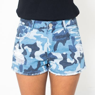 Short-Confort-Lady-Rock-Blue-Arms-Camuflado-Frente