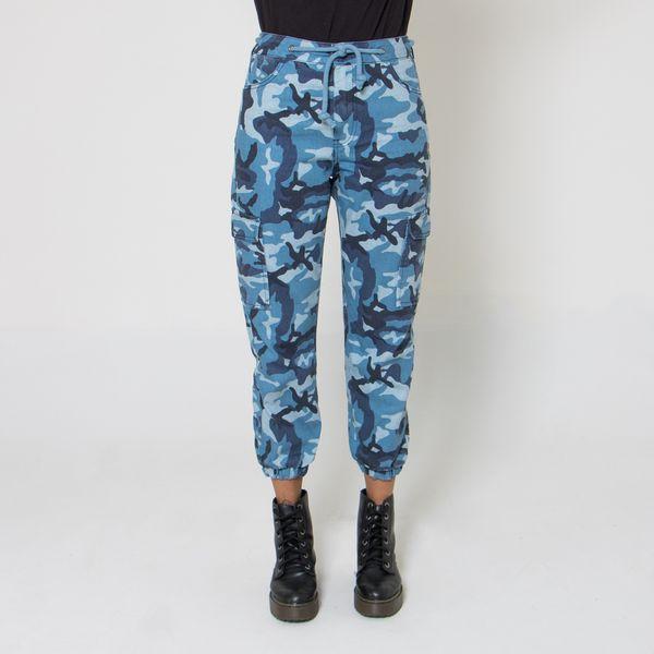 Calca-Cargo-Lady-Rock-Camuflada-Blue-Arms-Frente