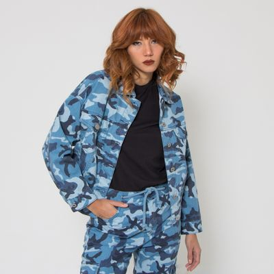 Jaqueta-Oversized-Lady-Rock-Camuflada-Blue-Arms-Frente