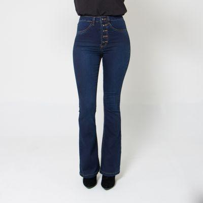 Calca-Flare-Lady-Rock-Jeans-Lavagem-Escura-Frente