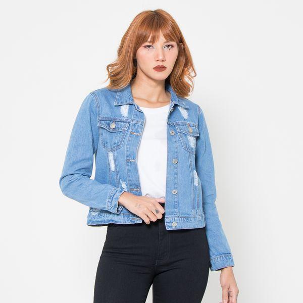 Jaqueta-Jeans-Media-Lady-Rock-Jeans-Lavagem-Media-Destroyed-Frente