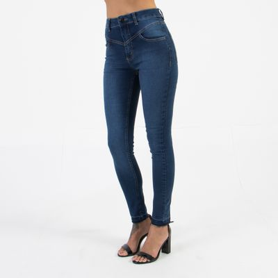 Calca-Skinny-Cintura-Alta-com-Recortes-Lavagem-Escura