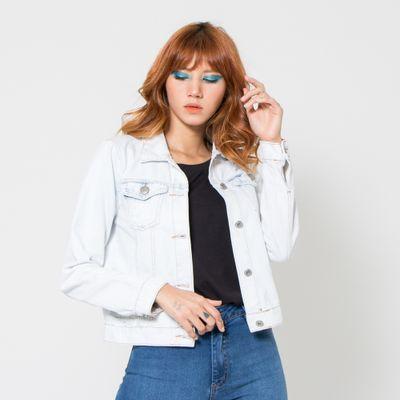 Jaqueta-Jeans-Media-Lady-Rock-Lavagem-Ultra-Clara-Frente