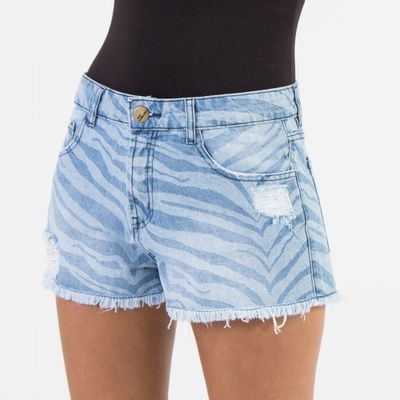 Short-Confort-Lady-Rock-com-Estampa-de-Tigre-Frente
