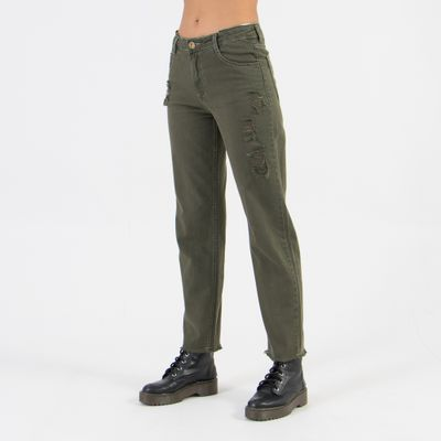 Calca-Confort-Lady-Rock-com-Cos-Duplo-Verde-Militar-Frente