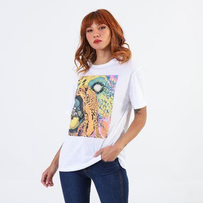T-Shirt-Lady-Rock-Estampa-Citrico-Frente
