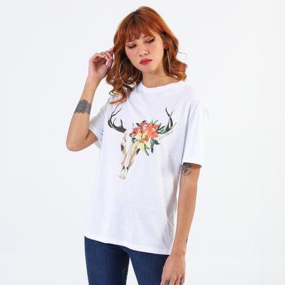 T-Shirt-Lady-Rock-Cervo-Florido-Frente