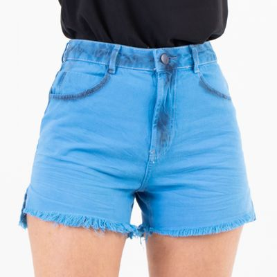 Short-Hot-Pants-Azul-Sky-Lady-Rock-Frente