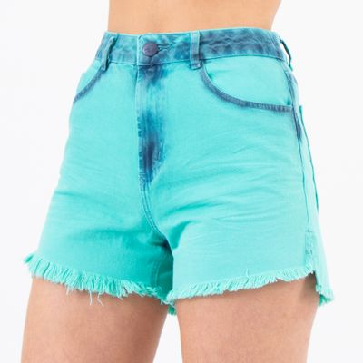 Short-Hot-Pants-Verde-Sky-Lady-Rock-Frente