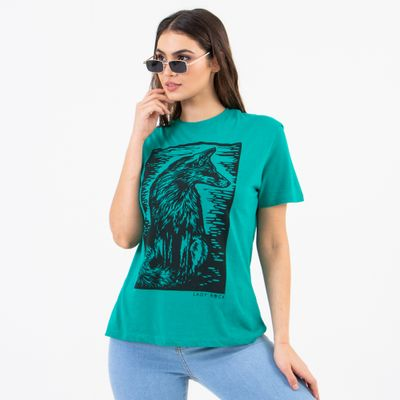 T-Shirt-Fox-Verde-Lady-Rock-Frente