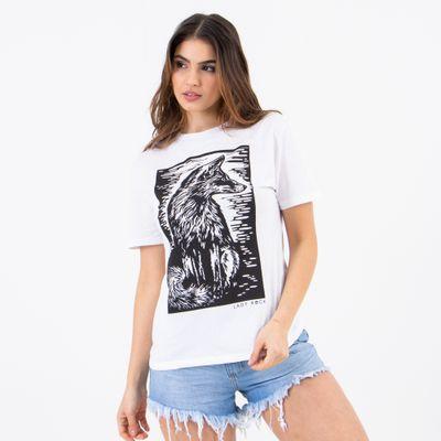 T-Shirt-Fox-Branco-Lady-Rock-Frente