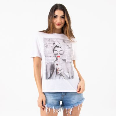 T-Shirt-Red-Ampla-Lady-Rock-Frente