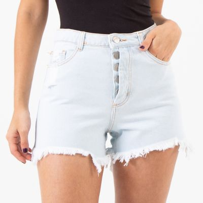 Short-Hot-Pants-com-Vista-Descolada-Lavagem-Clara-Lady-Rock-ON-STAGE