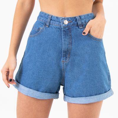 Short-Mom-Jeans-Lavagem-Media-Stone-Lady-Rock-Frente