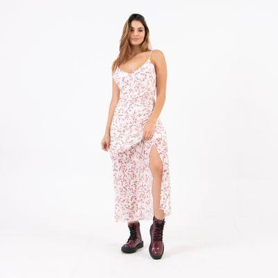 Vestido-Midi-com-Fenda-Tule-Floral-Lady-Rock-Frente